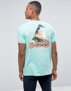 Read more about Esprit t-shirt with chest and back graphic - green 390