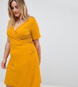 Read more about New look curve wrap dress - yellow