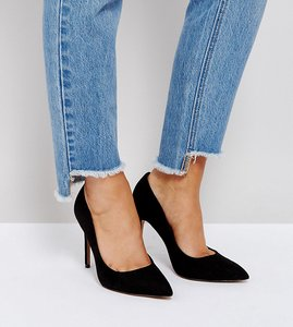 Read more about Asos paris wide fit pointed high heels - black