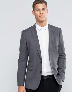 Read more about Farah houndstooth blazer - grey