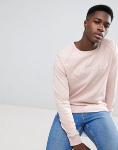 Read more about Lindbergh sweatshirt in light pink with logo - dusty pink