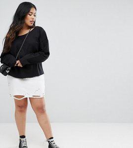 Read more about Asos curve nibbled mini skirt - white