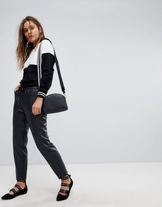 Read more about Esprit faux leather jogger pant - black