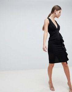 Read more about Ax paris v neck fitted pencil dress - black