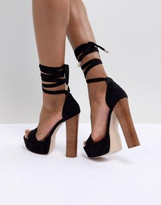 cd3e539b73b Read more about Asos design tamarind tie leg platform sandals - black