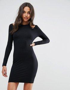 Read more about Asos mini cut out shoulder bodycon dress - black