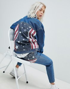 Read more about Pull bear usa flag oversized denim jacket - indigo