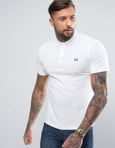 Read more about Fred perry slim fit plain polo in white - white