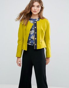 Read more about Closet zip pocket wool jacket - lime