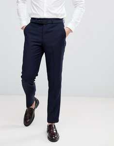 Read more about French connection birdseye weave slim fit suit trousers - navy