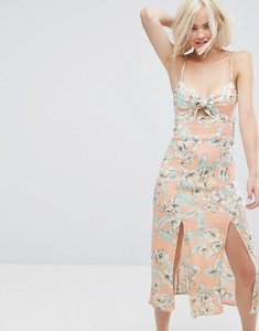 Read more about Minkpink palm springs floral midi dress - multi