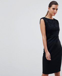 Read more about City goddess sleeveless lace midi dress - black