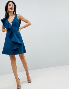 Read more about Asos ruffle front shift dress - blue