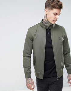 Read more about Pretty green newton harrington jacket with paisley lining in green - khaki