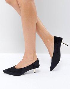 Read more about St sana heel interest pointed shoe - black velvet