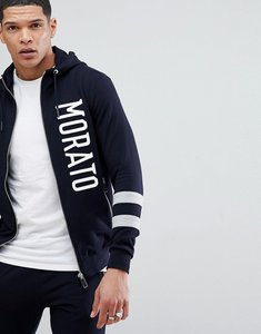 Read more about Antony morato hoodie in navy with stripe sleeve - navy