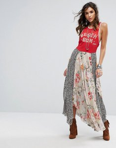Read more about Free people beachwood mixed prints maxi dress - red combo