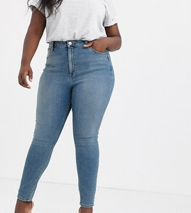 c4cd6d43774a0 Read more about Asos design curve ridley high waist skinny jeans in pretty  mid stonewash blue