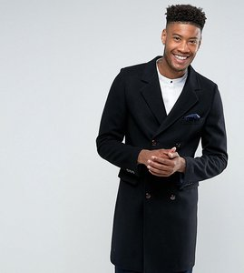 Read more about Gianni feraud tall premium wool blend oversized capone overcoat - black