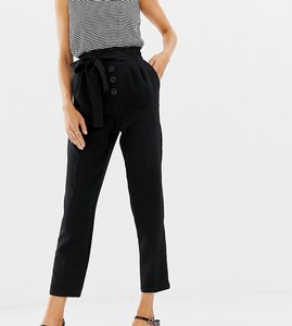 Read more about Stradivarius button front tie waist peg leg trouser