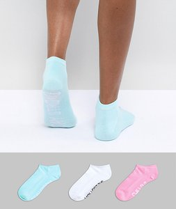 Read more about Sock shop slogan trainer sock 3 pack - multi