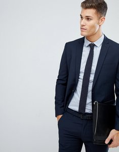Read more about Farah skinny suit jacket in navy - navy