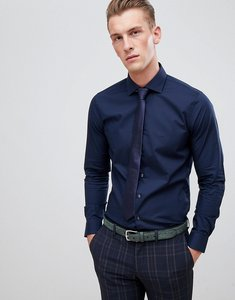 Read more about Michael kors slim fit smart shirt in navy stretch - midnight blue