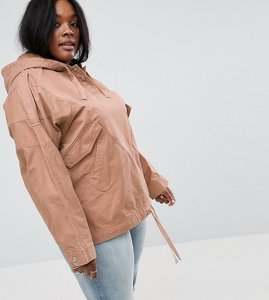 Read more about Asos curve over the head jacket - stone