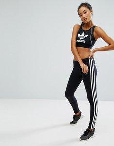 Read more about Adidas originals adicolor leggings with 3 stripe - black