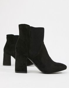 Read more about Glamorous heeled ankle boots - black