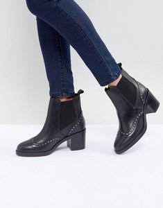 Read more about Carvela stop leather studded ankle boots - black