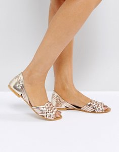 Read more about Asos juna leather summer shoes - metallic leather