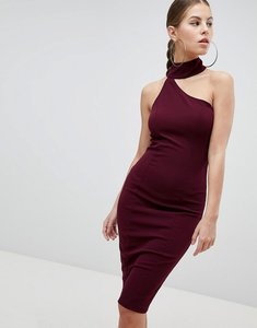Read more about Ax paris pencil dress with cut out detail - plum