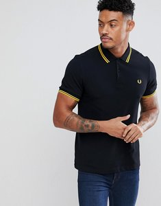 Read more about Fred perry polo with twin tipped in black - black
