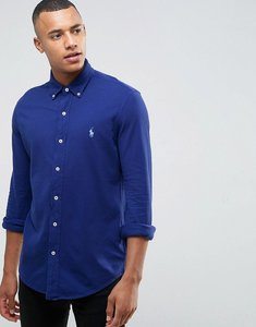 Read more about Polo ralph lauren pique shirt buttondown slim fit in navy - fall royal
