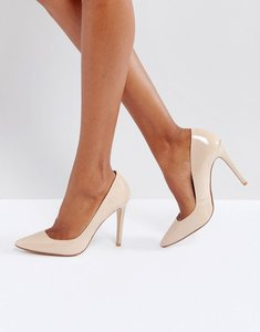 Read more about Dune london aiyana leather heeled shoes - nude leather