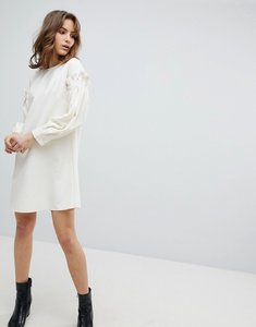 Read more about Unique21 dress with frill sleeve - white