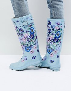 Read more about Asos garden floral wellies - blue