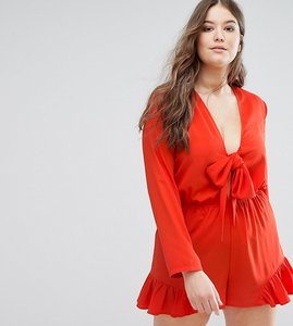 Read more about Alice you tie front playsuit - red
