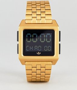 Read more about Adidas z01 archive digital bracelet watch in gold - gold c47b2da2159bb