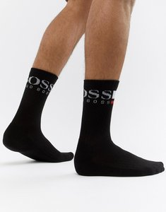 Read more about Boss rib logo socks - black