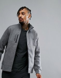 Read more about Polo ralph lauren performance sweatshirt full zip in grey marl - foster grey hthr