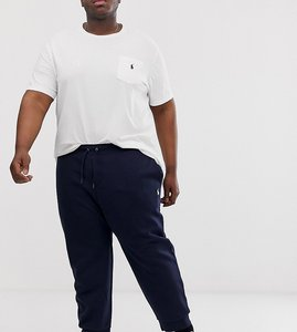 Read more about Polo ralph lauren big tall player logo cuffed joggers in navy
