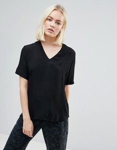 Read more about B young v neck blouse - black
