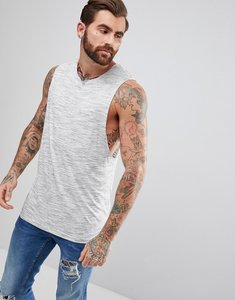 Read more about Asos sleeveless t-shirt with dropped armhole in inject fabric - grey
