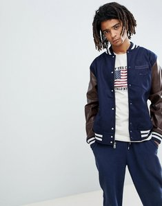 Read more about New era world varsity bomber jacket in navy - navy