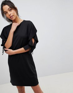 Read more about Y a s life ruffle sleeve dress - black