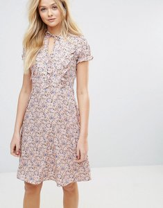 Read more about Y a s flowa ditsy print dress - withered rose