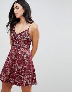 Read more about Ax paris lace skater dress - plum