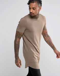 5f3b350e Read more about Asos super longline muscle fit t-shirt with curved hem -  mudstone